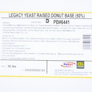 Label 6441 LEFAP Yeast Donut Base 50%
