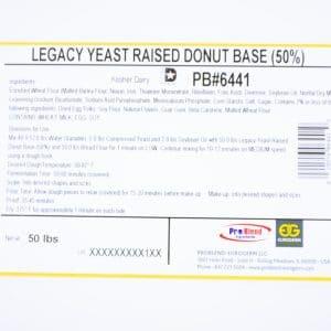 Label 6441 LEFAP Yeast Donut Base 50%